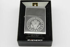 Genuine Zippo Lighter, USA Made, Licenced By The US Army, Chrome.