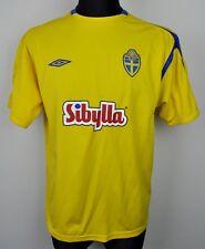 SWEDEN Home National Football Shirt 2004 Men's Medium Jersey Umbro M Trikot Top