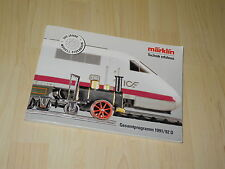 Marklin Gesamtprogramm 1991/92 D Katalog