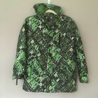 Champion Kids Puffer Hooded Jacket Digital Green Camouflage L 12-14 Reflective