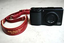 """ROBERU Leather Compact Camera Strap """" Bordeaux"""" Hand made from Japan Nw"""
