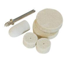 6 Piece Felt Polishing Kit -3.1mm Mandrel & 5 Felt Wheels/Tips- For Dremel