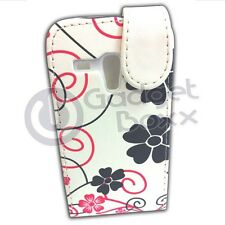 CASE FOR SAMSUNG GALAXY S3 MINI FLOWER PINK BLACK PU LEATHER FLIP POUCH COVER