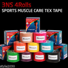 3NS  Kinesiology Physio Tape Sports Muscle Care Tex Tape 5cm X 5M 4 Roll