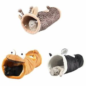 New Folding Channel Cat Tunnel Pet Puppies Kennel Cat Sleeping Bag Bed Warm Nest