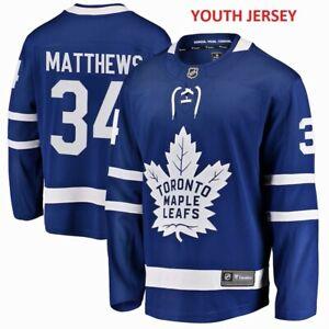 #34 Auston Matthews Toronto MAPLE LEAFS Fanatics Branded Breakaway Youth Jersey