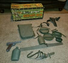 Vintage 1960's Marx Gung Ho Army Playset Original Box & Some Accessories