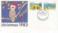AUSTRALIA 2 NOVEMBER 1983 CHRISTMAS OFFICIAL FIRST DAY COVER SHS