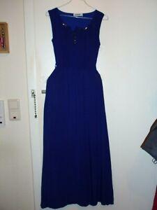 Tolles Abendkleid Maxikleid SIRADISI Gr. 36 38, royal blau, ärmellos, Taillengum
