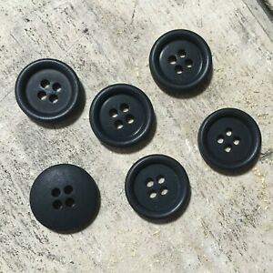 6 x Ted Baker ENDURANCE Genuine Branded Replacement Navy Circular Buttons 1.5cm