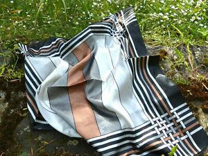 Halstuch Kopftuch Mundschutz mit Sehr elegantes Streifen Muster 75x75 cm UNISEX