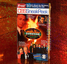 2001 CBS SNEAK PEEK VHS Blockbuster Video survivor CSI amazing race becker jag