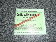 More details for match ticket stub : celtic  v  liverpool  1974/5  billy mcneill testimonial