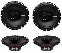 "4) New Rockford Fosgate R165X3 6.5"" 90W 3 Way Car Audio Coaxial Speakers Stereo"