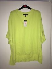 Lime Green Batwing Sleeved Blouse Size 16
