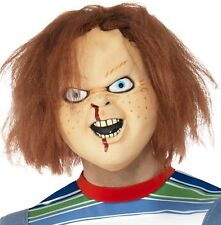 Halloween Fancy Dress Licensed Childs Play Chucky Mask with Hair New by Smiffys