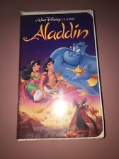 Walt Disney Classic Aladdin Black Diamond VHS Tape Movie #1662-1 Working Aladin