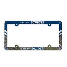 DALLAS COWBOYS COLOR CAR AUTO PLASTIC LICENSE PLATE TAG FRAME NFL FOOTBALL