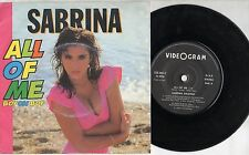 SABRINA SALERNO disco 45 giri STAMPA ITALIANA All of me 1988 MADE in ITALY