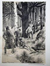 """c71-74 Gravure contes & récits d'Alsace """"mon ami le sergent Bronner"""""""