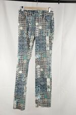 Authentic JPG JEAN'S by GAULTIER Printed Denim Cotton JEANS TROUSERS Pants 26