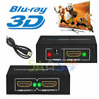 Fach 3D HDMI Splitter Switch Verteiler 1080p 1x2 HDTV 1 In 2 Out 3D PC Full HD