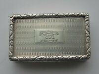 SUPERB GEORGIAN ANTIQUE GEORGE IV, ENGLISH SILVER SNUFF BOX, FORTIS IN ARDUIS