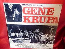 GENE KRUPA History of Jazz LP ITALY 1971 MINT-
