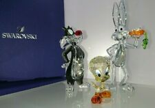 SWAROVSKI WARNER BROTHERS SYLVESTER BUGS BUNNY TWEETY LOONEY TUNES  IN SET NEU