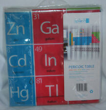 """Periodic Table Of Elements Novelty Shower Curtain Metal Grommets 70""""x72"""""""