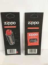 More details for genuine zippo lighter wick and flints packs wicks flint lighter accessories
