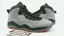 AIR JORDAN 10 X RETRO USED SIZE 8 COOL GREY INFRARED BLACK 310805 023