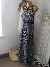 *PER UNA Speziale @ M&S* Size 14 Blue Mix Maxi Dress NEW*