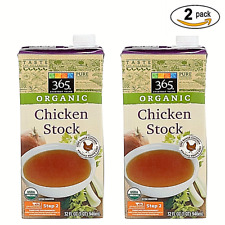365 Every Value Organic Chicken Stock 32 Oz. 2 of Pack