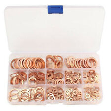 280pcs Solid Copper Crush Washers Seal Flat Ring Hydraulic Fittings Set w/Case(Fits: 2006 Volvo)