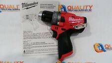 """New Milwaukee 2504-20 M12 12V Li-Ion Brushless 1/2"""" Hammer Drill - Bare Tool"""