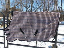 PLAID CHECK COTTON HORSE SHEET BROWN AND BLACK SIZE 69
