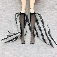 Monster High Freak Du Chic Twyla Replacement Socks Fishnet Black White