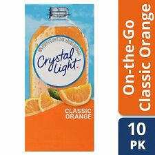 CRYSTAL LIGHT CLASSIC ORANGE Powdered DRINK (10 Packet x 2 Box) ON-THE-GO Single