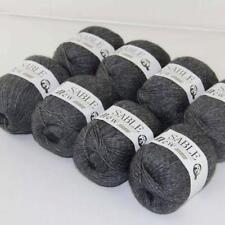 8Ballsx50g Pure Sable Cashmere Hand Knitwear Wool Shawls Soft Crochet Yarn 18