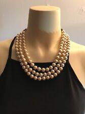 "Heidi Daus 3 strand pearl necklace  20"" Inch"
