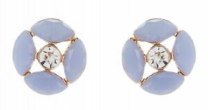 ACCESSORIZE, LILAC FLORAL & CRYSTAL STUD EARRINGS