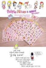 #22 New Pulple design alice deco PVC sticker cute deco stickers 8 sheets/set