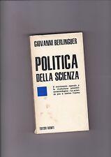 POLITICA DELLA SCIENZA - GIOVANNI BERLINGUER editori riuniti