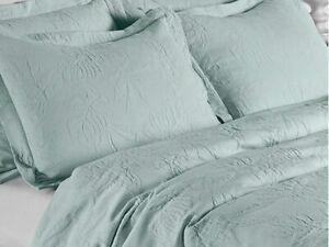 Design Port Richmond Matelassé Duck Egg Bedspreads