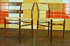60er Retro Esszimmer Stuhl Designer Sessel Vintage Mid-Century Nussbaum 1/2