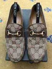 GUCCI donna scarpe in tela beige marrone GUCCI Mocassini UK 3 US 5 EU 36 Donna
