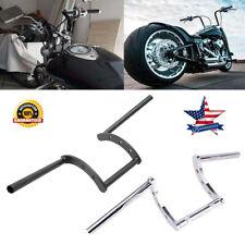 """1'&7/8"""" Motorcycle Handlebars Z Bar Drag Bars For Harley Honda Yamaha Suzuki Us (Fits: More than one vehicle)"""