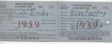 1939 State of Nevada Deer Hunting License Tag Mailer