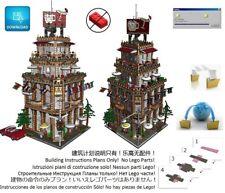 Lego Pub Corner Cafe Instructions Modular Custom Building Design City Town